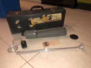 "Vintage CBS TV Bushnell ""Spacemaster"" 60mm Spotting Scope 25X Case birdwatching"