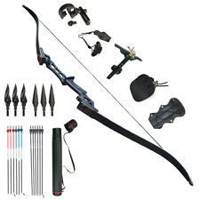 Archery Kits Recurve Bows 50lbs Takedown Bow Hunting Set Sight Right Handed Hei