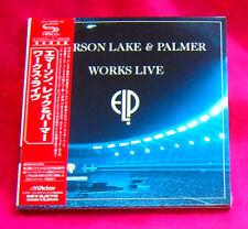 Emerson Lake & Palmer Works Live JAPAN 2 SHM MINI LP CD VICP-70159-60