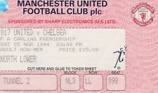 MANCHESTER UNITED  v CHELSEA ~ 5 MARCH 1994 ~ MATCH TICKET
