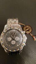 ON SALE White Blue Yellow Diamond Watch Set 2.5ct Luxurman with ADDITIONAL basel
