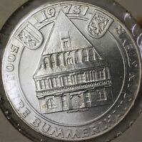1973 Austria 50 Schillings 500 Years Bummerlhaus Uncirculated Silver Coin