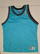 VANCOUVER GRIZZLIES Champion Teal Jersey 48 NBA MINT Blank Back Custom Bibby