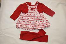 GEORGE Kleid 56 62 Mädchen England blumen bunt weiß rot rosa set herzen la