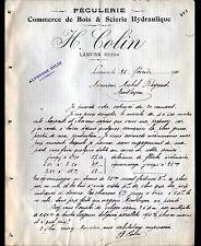 "LAMURE (69) SCIERIE / FECULERIE ""H. COLIN / Alphonse COLIN Succ"" en 1911"