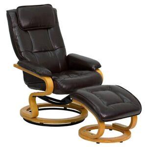 Flash Furniture Brown Bonded Leather Recliner, Brown - BT-7615-BN-CURV-GG