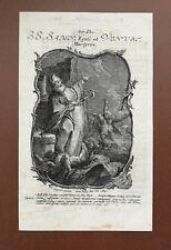 Icône Sabinus HOLY CARD, SANTINO, engraving, gravure - 16,5x10cm
