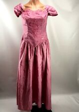 VTG 80s Off Shoulder Eve of Milandy  Lace Party Prom Bridesmaid Dress Lilac S/M