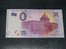 BILLET TOURISTIQUE ZERO EURO SOUVENIR 2017.1 berliner schloss