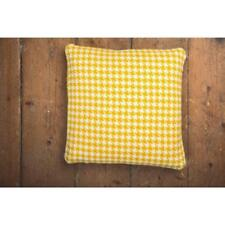 FOXFORD MERINO LAMBSWOOL FEATHER FILLED CUSHIONS -  YELLOW ( Gold) & CREAM