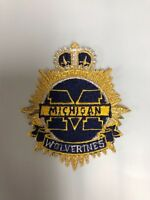 MICHIGAN WOLVERINES 3 INCH IRON ON PATCH