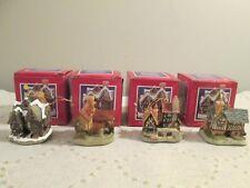 David Winter Cottage John Hine Studio set 4 Christmas Ornaments