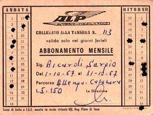 1967 TESSERA AUTOBUS TRAM AUTOSERVIZI LENGUEGLIA PAOLO ALBENGA LIGURIA 1-83BIS