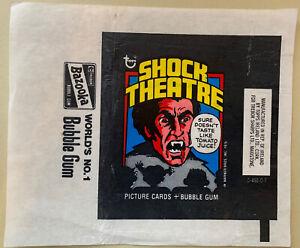 Topps Ireland 1976 - Shock Theatre / Shocking Laffs Empty Gum Card Wax Wrapper