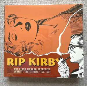 RIP KIRBY 1959-1962 BY JOHN PRENTICE NEWSPAPER COMIC STRIPS HARDCOVER NEAR MINT