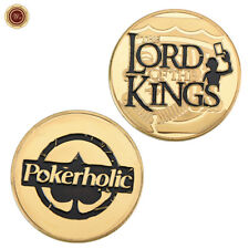 WR The Lord of Kings Pokerholic Poker Card Guard Casino Chip Token Gold Coin 24K