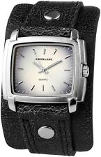 Excellanc Damen Armbanduhr Unterlegband Armband Uhr silber eckig unterleg Band
