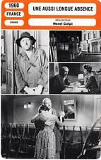 FICHE CINEMA : UNE AUSSI LONGUE ABSENCE - Valli,Wilson,Colpi 1960 Long Absence