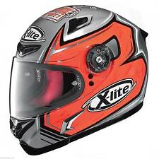 Nolan X-lite X-802R Replica / Motorcycle BAIOCCO CHROME Crash Helmet / Large