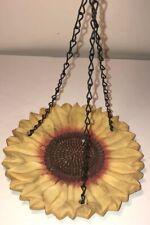 Vintage? Hanging Sunflower Bird Feeder Plant Saucer Resin