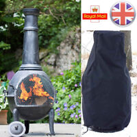 Garden Heavy Duty Large BBQ Chimnea Chiminea Waterproof Rain Protector Cover UK