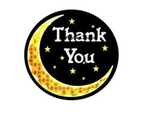 Thank You Stickers X 60 (37mm Diameter). Glossy Finish