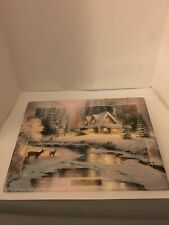 Thomas Kinkade Winters Peace Numbered Ceramic Plaque