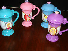 Disney on Ice - Four Mugs/Steins - Frozen, Cinderella, Rapunzel, and Ariel  Used