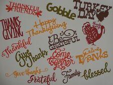 Thanksgiving sentiments words scrapbooking die cuts greeting card die cut