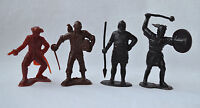 USSR Soldier plastic toys Lot 4x Pirate Viking Soviet warrior figures DZI set