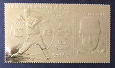 '95 St Vincent NOLAN RYAN 23kt Gold STAMP BASEBALL STAMPS BASEBALL TEXAS RANGERS