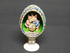 "2006 Jim Shore ""Display of Affection"" Egg w/Bunnies Figurine New In Box"