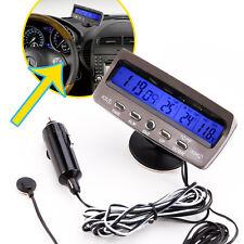 12V LCD Termometros digital de coche Comprobador de tension Voltimetro Negro P7