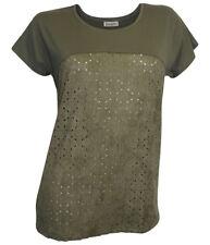 Elegantes Boysen´s Shirt Gr. 44 khaki Lederimitat NEUWARE