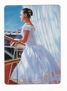 Ballerina Lady at a Balcony  - Modern Wide Linen Swap Playing Card