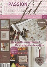 Passion fil N°3 point de croix et art du fil Avent Noël