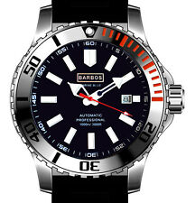 """BARBOS """"MARINE BLUE"""" AUTOMATIC WR 3300ft/1000m MENS DIVER WATCH"""