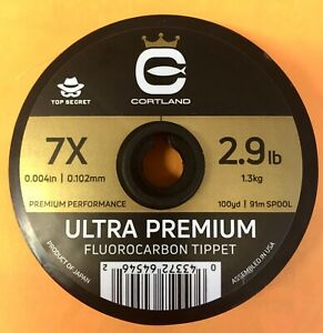 Cortland Ultra Premium Fluorocarbon Tippet 7X 100 Yards Expedited Shipping