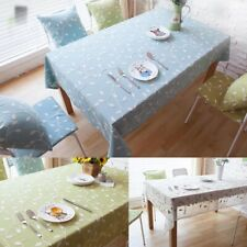Cotton Leaves Embroidery Tablecloth Rectangle Table Cloth Covers Dining Decor
