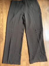 NEW Eileen Fisher Mussel Heavy Silk Georgette Wide Leg Pant  P543 Large/Lg/LRG