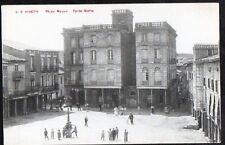 Año 1910. Tarjeta Postal. Sahagún. Nº 2. (León). Plaza Mayor – Parte Norte.