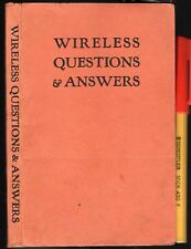 1940s WIRELESS QUESTIONS & ANSWERS RADIO Handbook + TV
