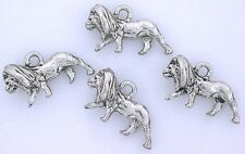 Seven Pewter Silverplated Leadfree Lion Pendant Charm cf677