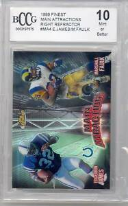 1999 Finest Football Main Attractions Right Refractor (James/Faulk) (MA4) BCCG10