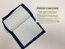 "Blitz Jewelry Rouge Cloth / Polishing Cloth 4"" x 6"" Blue/ White"