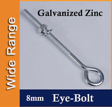 8mm Galvanized Zinc EYEBOLT for Shade Sail, Boat