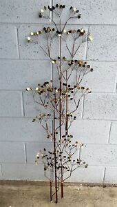 "Midcentury C Jere Tall Trees Metal Wall Sculpture Art 52"" Artisan House"