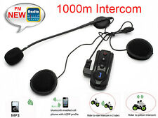 FDC BT-S1 1km Interphone BT Motorcycle Helmet Intercom Headset FM Radio+Earphone