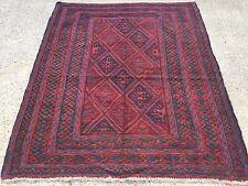 Handmade Afghan Tribal Mushvani Oriental Wool Square Rug 140x121cm Posted In Uk