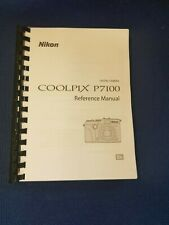 NIKON P7100 PRINTED INSTRUCTION MANUAL USER GUIDE 260 PAGES A5